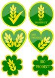 olika gröna symboler Arkivfoto