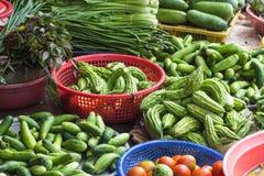 Olika grönsaker på marknaden Royaltyfri Foto