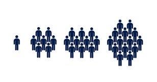 Olika grupp människor, folkmassa, infographics vektor illustrationer