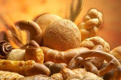 olika gruppprodukter för bröd Arkivbild