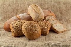 olika grupptyper för bröd Arkivfoton