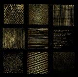 Olika guld- bakgrunder, vektor arkivbilder