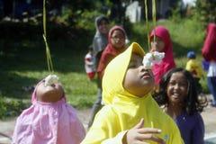 Olika händelser som firar minnet av Indonesien självständighetsdagen, Augusti 17, 2014 Royaltyfri Fotografi