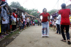 Olika händelser som firar minnet av Indonesien självständighetsdagen, Augusti 17, 2014 Arkivfoto