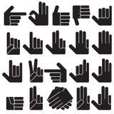 olika händer Arkivfoton