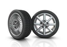 olika hjul för mag två Arkivfoton