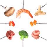 Olika ingredienser för fondue Royaltyfri Bild