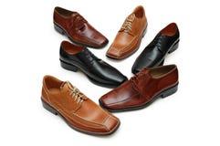 olika isolerade male skor Royaltyfri Bild