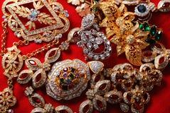 olika jeweleries Arkivfoto
