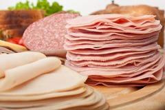 Olika kött för kallt snitt Royaltyfri Fotografi