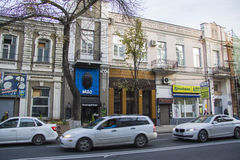 olika kafeterior i Krasnodar arkivbilder