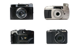 olika kameror Royaltyfria Bilder