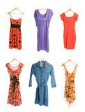 olika klänningar sex för samling Royaltyfri Foto