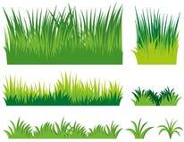 Olika klotter av gräs stock illustrationer