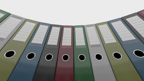 Olika kontorslimbindningar Goda för rapporter och presentationer framförande 3d Arkivbild