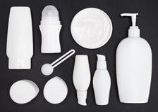 Olika kosmetiska produkter för hudomsorg Royaltyfria Bilder