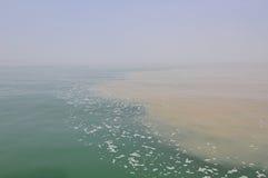 Olika kroppar av vatten i Lake Ontario Arkivfoto