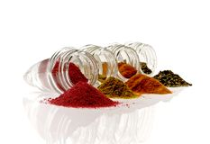 olika kryddor Arkivfoton