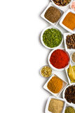 Olika kryddor och örtar. Royaltyfri Bild