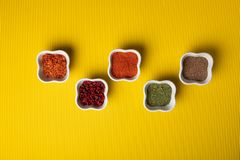 olika kryddor royaltyfri bild