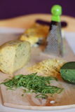 olika kvaliteter för ost Arkivbilder