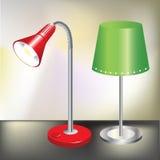 olika lampor två för lägenhet Arkivbild
