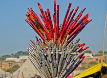 Liten affär i Kumbh 2013 Royaltyfri Fotografi