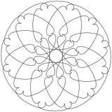 Olika linjära geometriska objekt Slumpmässiga skärande linjer fo stock illustrationer