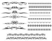 olika linjer dekorativ regel för design Royaltyfria Foton