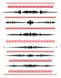 olika linjer dekorativ regel för design Royaltyfri Bild