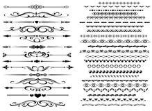 olika linjer dekorativ regel för design Royaltyfri Foto