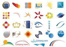 olika logoer stock illustrationer