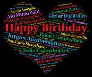 grattis på födelsedagen på olika språk Lycklig Födelsedag På Olika Språk Arkivfoto   Bild av  grattis på födelsedagen på olika språk