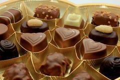 Olika lyxiga choklader Royaltyfria Bilder