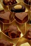 Olika lyxiga choklader Arkivbild