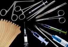 olika medicinska hjälpmedel Royaltyfri Foto