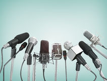Olika mikrofoner Royaltyfri Foto