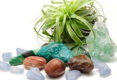 Olika mineraler och kristaller: Royaltyfria Bilder
