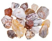 Olika mineralstenar Arkivfoto
