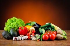 Olika nya grönsaker Arkivbilder