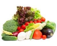 Olika nya grönsaker Arkivbild