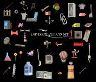 Olika objekt uppsättning, samling Arkivbild