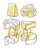 olika ostsorter arkivbilder