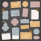 Olika pappers- objekt Vektor Illustrationer