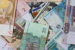 olika pengar för länder Royaltyfri Bild