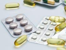 olika pills Royaltyfri Bild