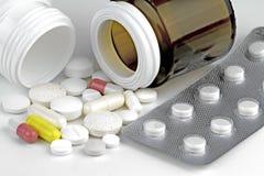 olika pills Arkivfoton