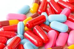 olika pills Fotografering för Bildbyråer