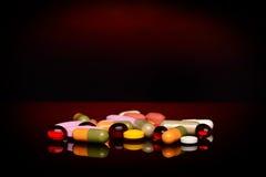 olika pills Royaltyfria Bilder