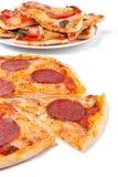 olika pizzas Royaltyfri Bild